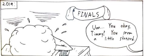 Timmy the Torrey in Finals Week